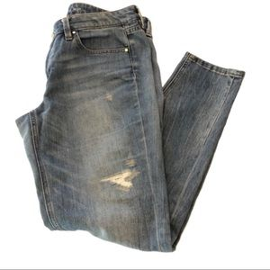 WHBM Girlfriend Jeans Distressed Size 10